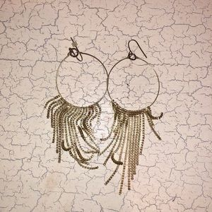 Neiman Marcus Gold Disco Earrings